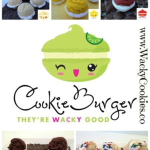 cookieburger collage with flavors