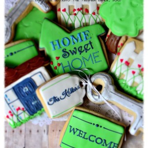 Home Sweet Home House Warming Shortbread Sugar Cookie Gift Box