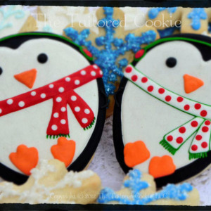 Christmas Penguines by The Tailored Cookie