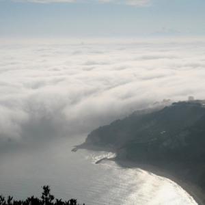 Gloria nebbia Monte Conero