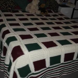 Kim' blanket patchwork mauve single bed (2)