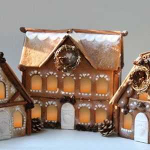 Gingerhaus Gingerbread House Baking Kits  Springerle Molds Manor chalet church
