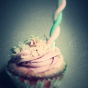 Coconut Lime Pomegranate Cupcake Artsy 2