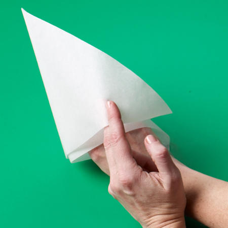 how to make a cone out of parchment paper
