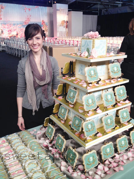 Amber with Her Lavish Cookie Display