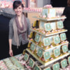 Amber with Her Lavish Cookie Display: Photo courtesy of SweetAmbs