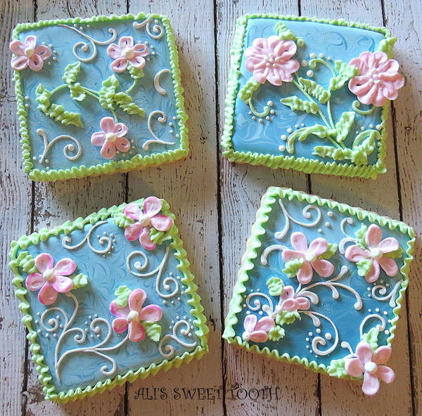 Ombre Marbled Floral Cookies _ Alis Sweet Tooth_1