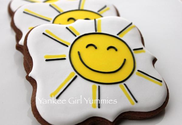 Happy Sun Cookies - Yankee Girl Yummies - 2