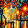 Leonid Afremov's The Loneliness of Autumn: Original Work