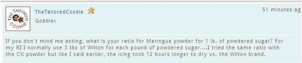 Meringue Powder Ratio