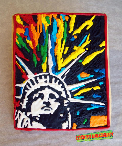 Happy Fourth of July There's No Passion Without Colors by Anna - Cookies Unleashed -5