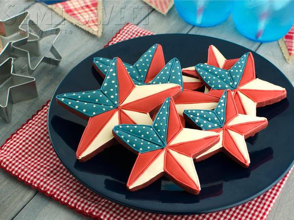 Patriotic Barn Star Cookies Mike at Semi Sweet - 7