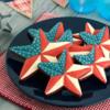 Patriotic Barn Star Cookies: By Mike @ Semi Sweet