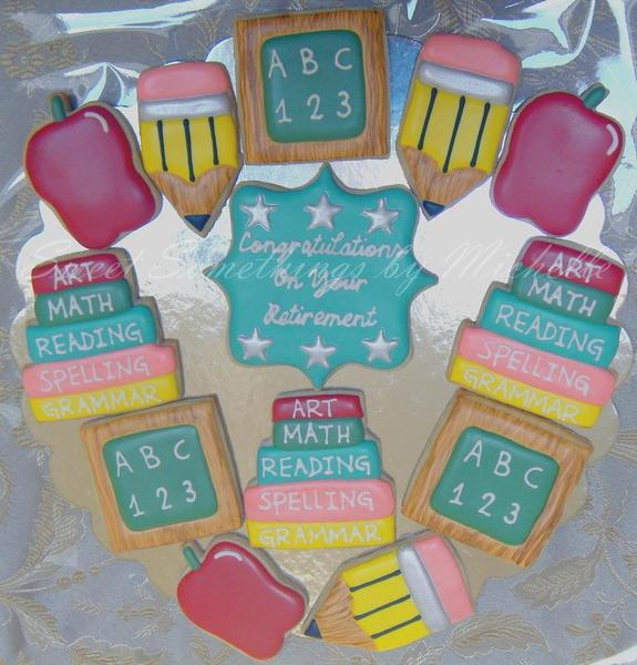 Teacher Retirement Cookies from Michelle at Sweet Somethings - 2