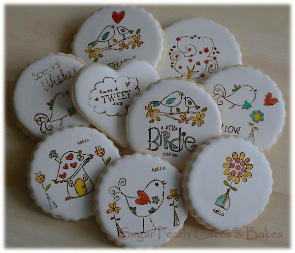 Stamped Cookies _Rubber-Stamped_SugarPearls Cakes and Bakes