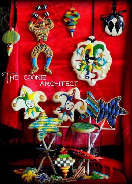 Suspended Cookies_Jester Set_The Cookie Architect