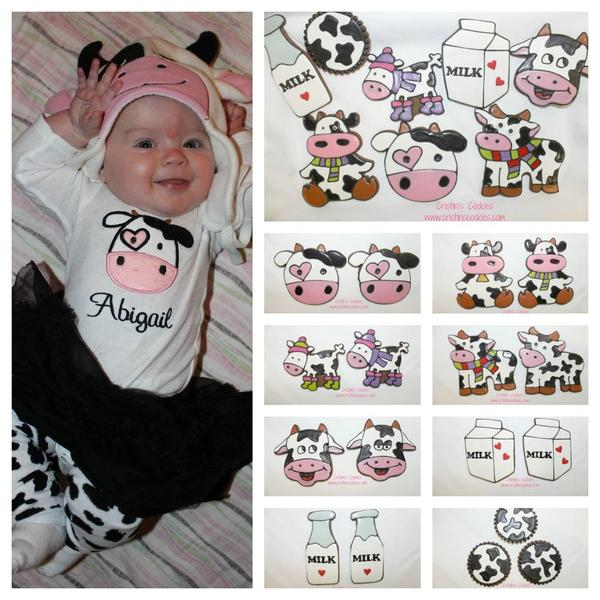 Cow Collage by Cristin's Cookies