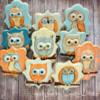 Owls On Wood Background: By Laurie at Cookie Bliss