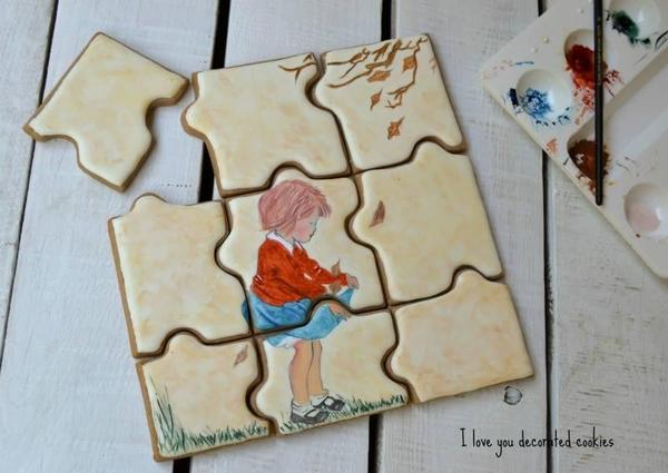 Vintage Puzzle _ I Love You Decorated Cookies -10