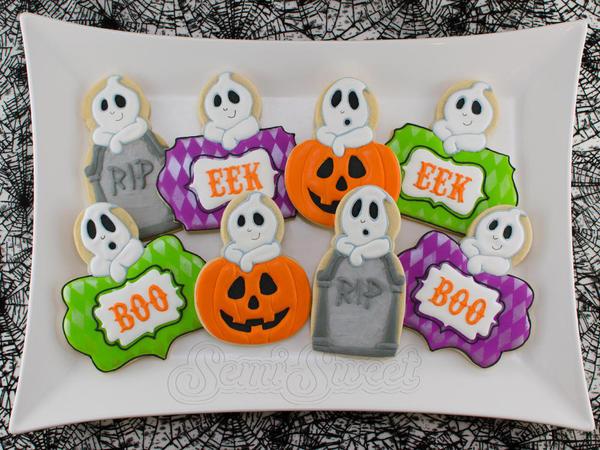 Halloween Ghost Cookies - Mike at Semi Sweet - 10