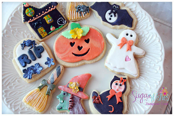Halloween Fondant Cookies - Tina at Sugar Wishes - 4