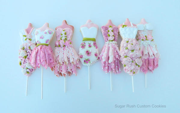 Princess Dress Cookie Pops - Sugar Rush - 8