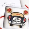 Just Married Cookie Calling Card: Cookies and Photo by De Koekenbakkers