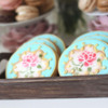 Stenciled Flower Cookies: Cookies and Photo by Montreal Confections