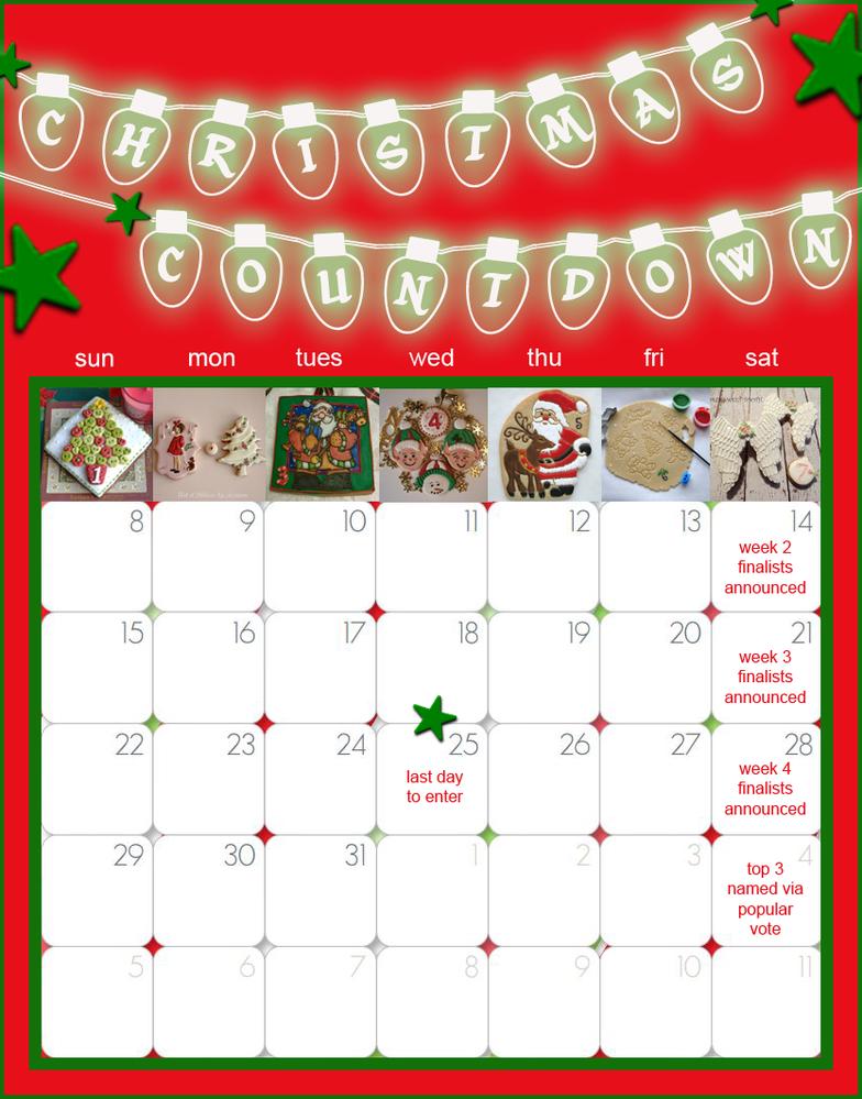Weekly Calendar Counter : Saturday spotlight congrats to our christmas countdown