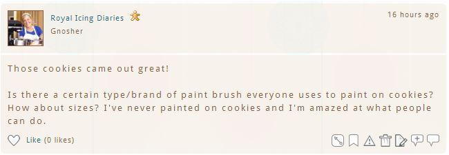 What Brushes Do You Use for Painting Cookies? | Cookie