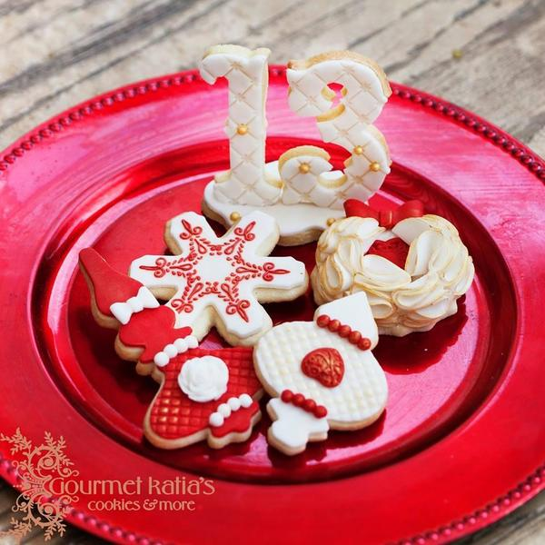 Elegant Christmas - Katia at GK Cookies - Day 13