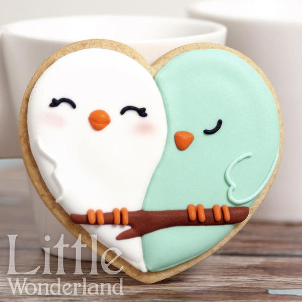 Love birds cookies - Little Wonderland -1