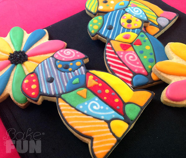 Colorful-puppies and Flowers - Alejandra at Bake & FUN - 7