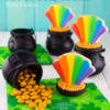 Rainbow Pot of Gold Cookie Party Favors: By Mike at Semi Sweet
