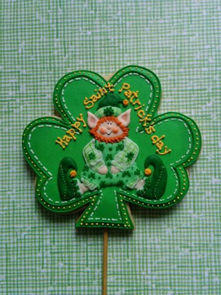 Lucky Leprechaun in Shamrock - cookiely - 4