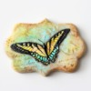 Handpainted Butterfly Cookie: Cookie and Photo by Arty McGoo