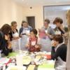 Liz Teaching in Italy: Photo Courtesy of Arty McGoo