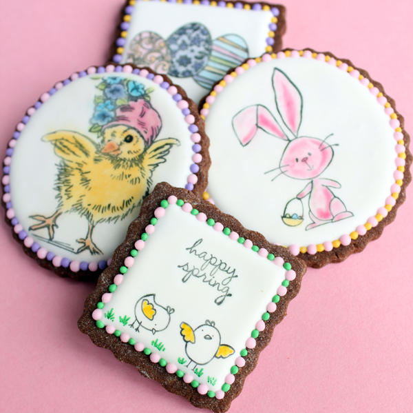 Spring Stamped Cookies - Gwens Kitchen Creations - 2