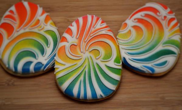 Rainbow Tie-Dye Easter Eggs - Belleissimo Cookies -10