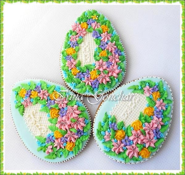 Easter Eggs with Flowers - Irina - 1