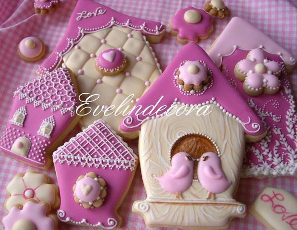 Bird House Cookies _Evelindecora - 2