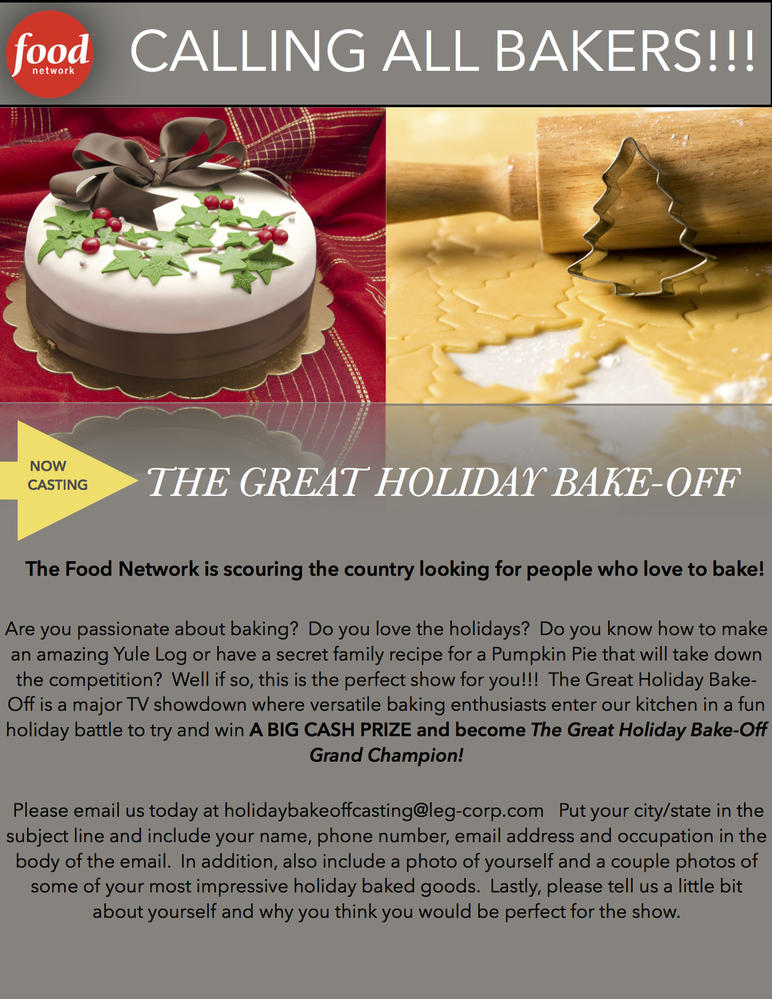 Food network casting now for the great holiday bake off cookie take action forumfinder Images