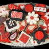 Black and Red Set: Cookies and Photo Courtesy of CookieCrazie