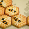 Honeycomb with Bees, Another View: Cookies and Photo by Honeycat Cookies