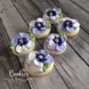Pansies, Again!: Cookies and Photo by Melissa O'Regan