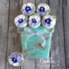 Teal Pot with Pansies: Cookies and Photo by Melissa O'Regan