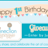 Cookie Connection Birthday Giveaway Banner: Graphic Design by Pretty Sweet Designs