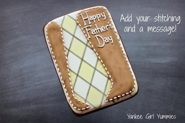 Father's Day Card - stitching/message added