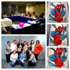Mallory, Her Students in Spain, and Their Work: Photo Collage Courtesy of ButterWinks! SpiderMan Cookies by Various Students