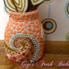 Cookie Vase, Front View Closeup: Cookies and Photo by Lisa Daniels/Gigi's Fresh Baked